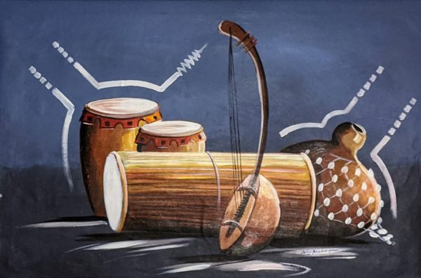 Folk Sounds of Nigeria Oil Painting on Canvas 2