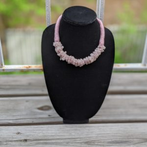 Bohemian African Style Choker Necklaces - Light Pink