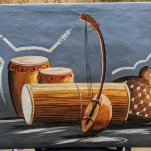 Folk Sounds of Nigeria Oil Painting on Canvas 3